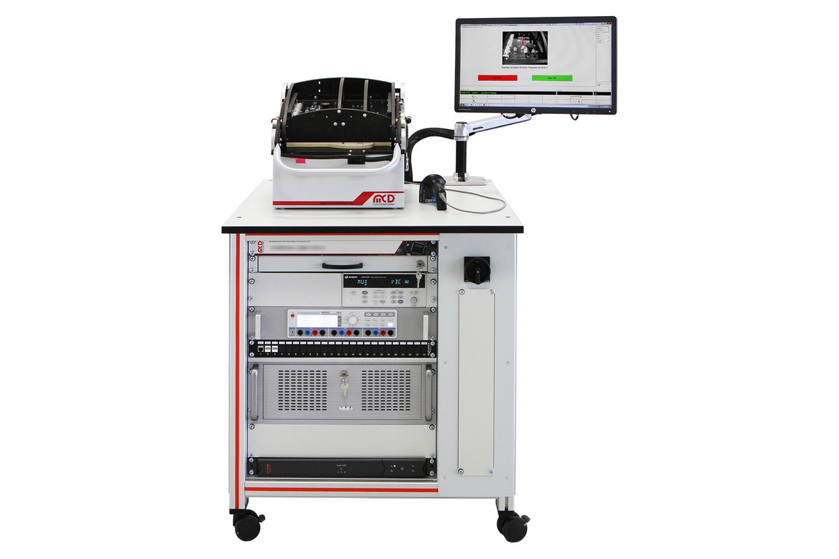 Mcd Elektronik Gmbh Test System For Pcbs In Dentistry Devices Maintenance Tools Fixture Circuit Board Repair On A Mobile Ulc Rack Null Label And Led Supported Pcb