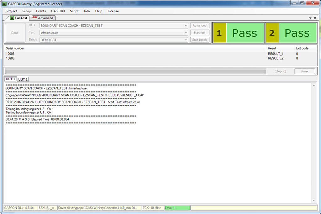 User interface of Toolmonitor BSCAN