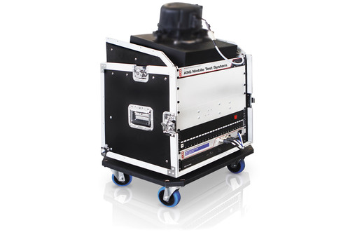 "Mobile solution: 19"" rack with trolley"