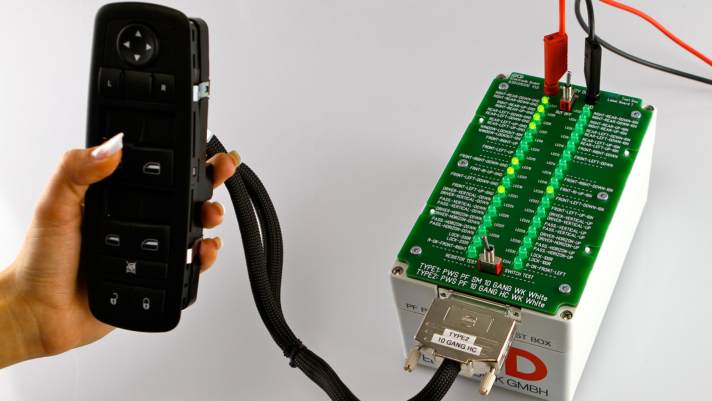 Mcd Elektronik Gmbh Test Boxes For Vehicle Operating Devices Relay Tester Testing Of The Switching Functions